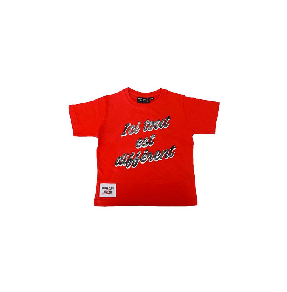 """T-shirt enfant """"ici tout..."""