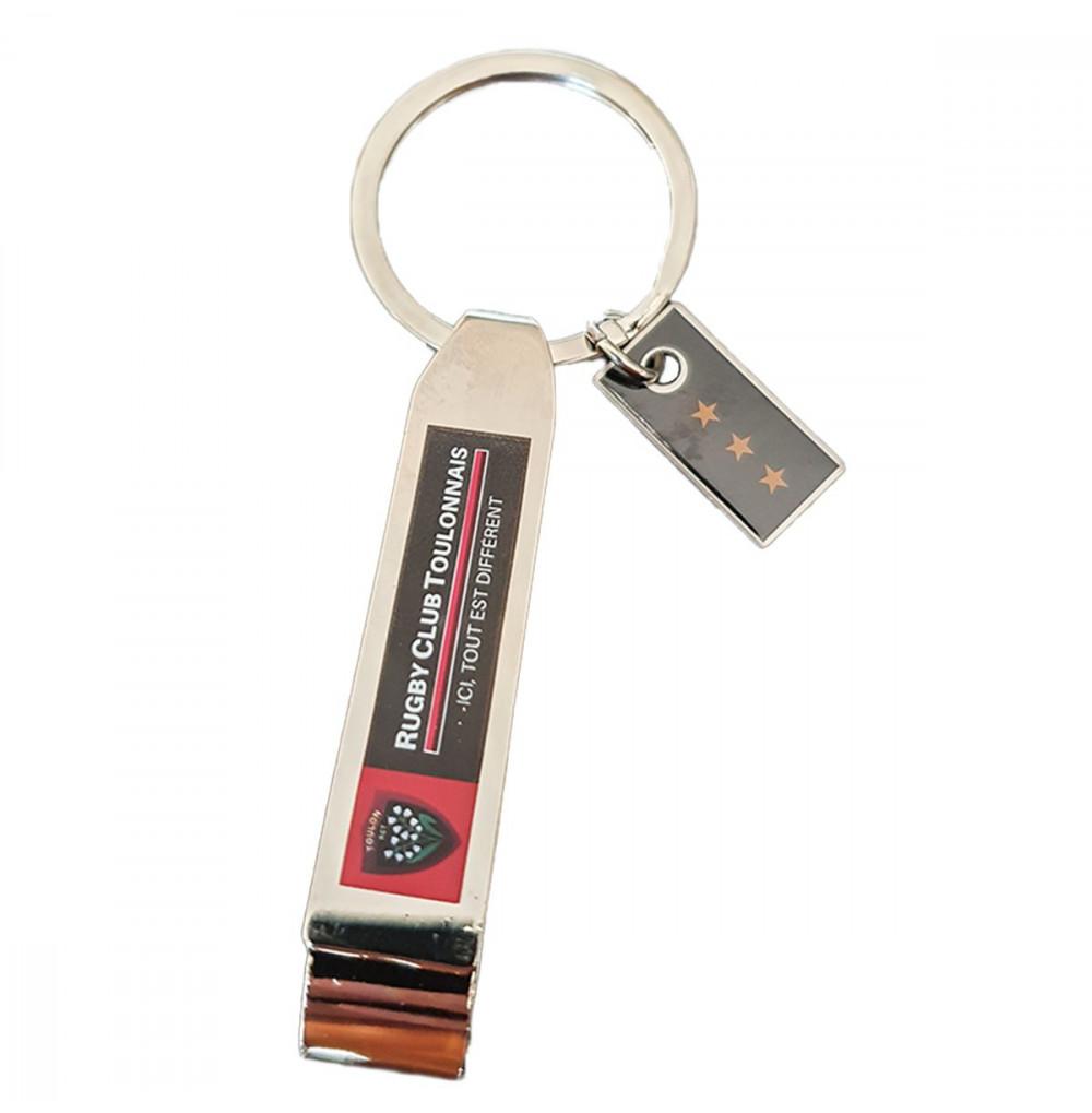 Porte-clefs acier decapsuleur