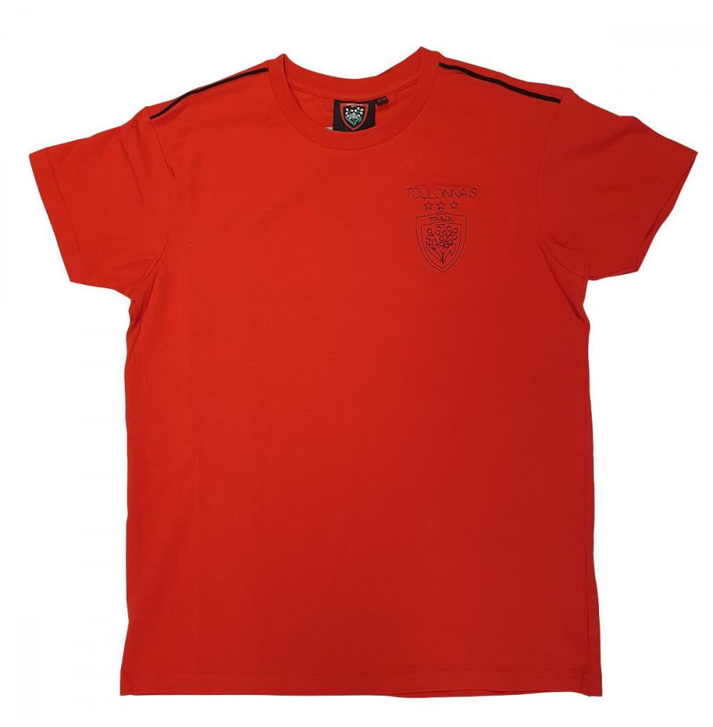 T-shirt enfant rouge broderie